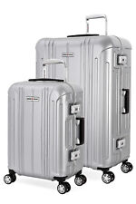 Swissgear 6595 Aluminum Frame Hardside Spinner 2pc Luggage Set - Silver
