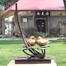 Western Art Deco Sculpture Bronze Marble Painting Mandarin Duck bird Statue