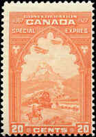 Mint Canada 20c 1927 F Scott #E3 Special Delivery Stamp Hinged