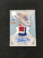 2015-16 UPPER DECK THE CUP BRADY SKJEI ROOKIE AUTO PATCH SILVER #ed 90/249