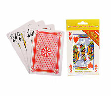 JUMBO LARGE PLASTIC COATED PLAYING CARDS FULL DECK FOR KIDS OR ADULTS 12 x 9 cm