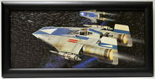 Star Wars ROTJ REBEL A-WING FIGHTERS FRAMED CONCEPT PRINT Chiang 1983 Jedi