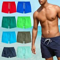 Mens Ex-Store Summer Swim Shorts Mesh Lined Swimming Quick Dry Trunks S M L XL