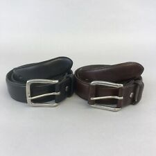 "2x Gant Black Brown Leather Jeans Trouser Formal Casual Belt Size 85/34 40"" Long"