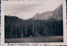 VERA FOTO Lago di Carezza alta Val d'Ega Nova Levante BOLZANO 1936 7-127