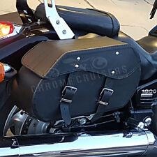 Moto De Cuero Negro Alforjas Alforjas Honda Vtx1300 1800 Retro C N (c12a)