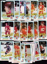 1981 - 82 OPC Team SET Lot of 19 Calgary FLAMES NM+ o-pee-chee NILSSON PLETT