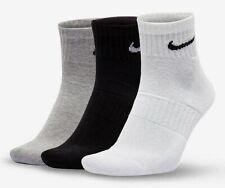 Nike Tre Pack Uomo Quarter Calzini Misura 5-8 Regno Unito