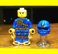 LEGO NINJAGO JAY KNEE PADS w/ Pearl Gold CHAIN GENUINE AUTHENTIC MINIFIGURE RARE