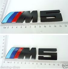 1PCS  Black ///M5 Metal Body Rear Trunk Lid Stickers Badge Emblem For BMW M5