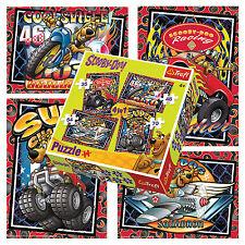 Trefl 4 In 1 35 + 48 + 54 + 70 Piece Unisex Kids Scooby Doo Biking Jigsaw Puzzle