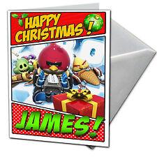 Angry Birds ir-Personalizado De Tarjetas De Navidad-Hijo, Hija, sobrino, sobrina