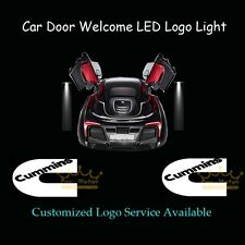 2pcs Car Door Courtesy Laser Projector Shadow CREE LED Logo Light for Cummins