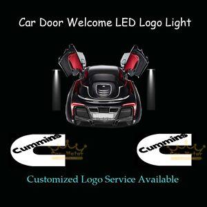2Pcs Car Door Courtesy Laser Projector Shadow CREE LED Logo Light for Cummins