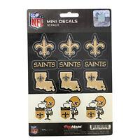 New NFL New Orleans Saints Die-Cut Premium Vinyl Mini Decal / Sticker Pack