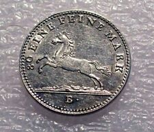1821B GERMANY HANOVER STATE SILVER 1/6 THALER  UNC RARE SUPERB COIN KM #129