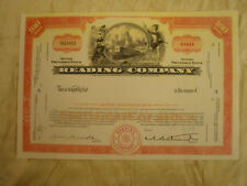 Reading Company stock certif