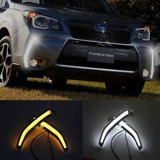 A Pair Daytime Running Light Fog Driving Lamp DRL For 2013-15 Subaru Forester XT