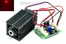 DC12V Focusable 100mw 650nm 660nm Red Laser Diode Dot Module + TTL + Fan Cooling