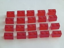 Lego 3065# 20x Basic Stein 1x2 in Transparent rot 7163 9476