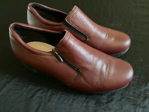 Munro Womens Napoli Leather Wedge Shoes 9.5 No Insole *Mint* Red