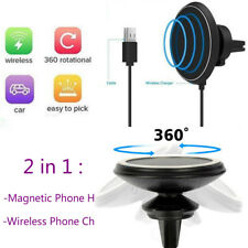 Magnetic Qi Wireless Car Charger Charging Mount Holder for Samsung iPhone X 8 8p