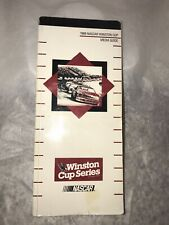 Vintage 1989 Nascar Winston Cup Series Media Guide. New Not In Packaging