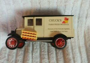 Die Cast 1924 Chevy Series H 1 TON Truck CHUCKS FARM FRESH PRODUCE EUC
