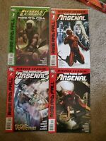 Justice League: Rise Fall Sp Variant & JL: Rise Arsenal #1-4 DC -