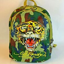 Ed Hardy By Christian Audigier Camoflauge Tiger Backpack King of Jungle