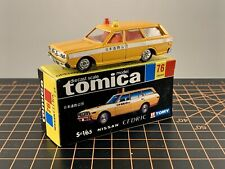 Tomy Tomica Pocket Car Made in Japan 76 Nissan Cedric Wagon Road Service Yellow