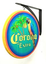 Corona Parrot Sign - 2 sided pub sign - 12 inch Diamater