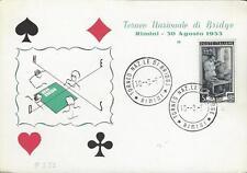 FDC 3/30/57 Rimini Torneo Nazionale Di Bridge