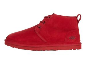 UGG NEUMEL SAMBA RED Men's Suede Low Chukka Ankle Boots 3236