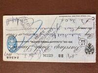 b1u ephemera cashed barclays bank cheque 1947 july 62236 bb 24368