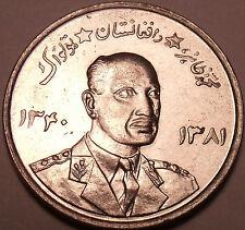 Large Gem Unc Afghanistan 1961 5 Afghani~Rular Muhammed Zahir Shah~Free Shipping