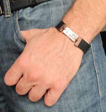 "Kabbalah ""Shema Israel"" Bracelet. Jewish Bracelet for men. Judaica Mens Bracelet"