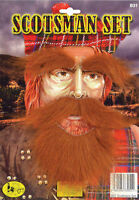 SCOTSMAN Fancy Dress Ginger Beard Moustache Eyebrows