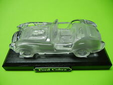 FORD 289 427 COBRA CRYSTAL AUTOMOBILE GLASS CAR PAPER WEIGHT  ( WITH STAND )