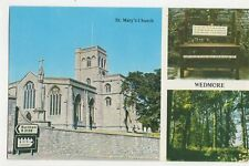 St Marys Church Wedmore Old Postcard 190a