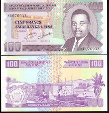 Burundi 100 Francs 2011, Pnew Mint Unc