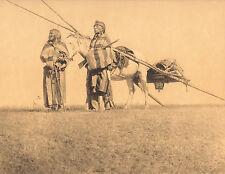 "EDWARD CURTIS Indian Tribe ""BLACKFOOT TRAVOIS"" Native American Photo Book Print"