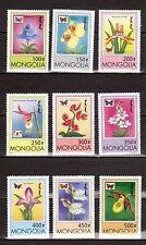 MONGOLIA 2269-77 Orchids set MUH