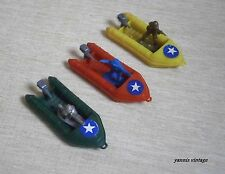 Boats + Toy Soldiers Lot X 3 NEW NO BOX PLASTIC GREEK GREECE VINTAGE MILITARY