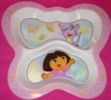 Dora the Explorer Butterfly shaped 2 part divided melamine plate by Zak Designs