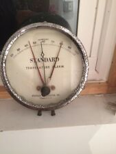 VINTAGE Standard Thermometer Temperature Alarm Boston Mass USA