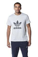 BNWT Nuevo Para Hombre Adidas Originales Trébol Camiseta Talla Grande Gris L Sport Casual