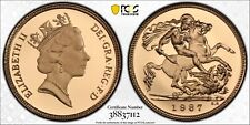 1987 Gold Half Sovereign Proof PR70 PCGS Great Britain 1/2 Royal Mint Sov
