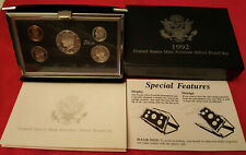 BOX AND COA INCLUDED 1992 US MINT PREMIER SILVER PROOF SET