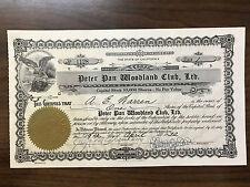 Peter Pan Woodland Club, Ltd., Big Bear City, Ca 1932 & Membership Certificate